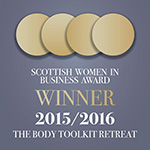 2015 Scottish Women in Business awards winner