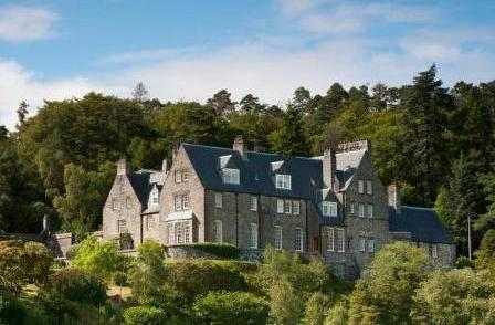 The magnificent Arisaig House in the west coast Scottish Highlands