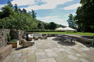 The patio at Cray House bathing in some glorious May weather