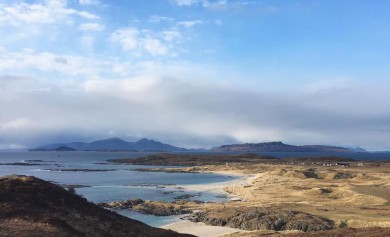 Sanna Bay in Ardnamurchan, looking out towards Eigg and Rhum