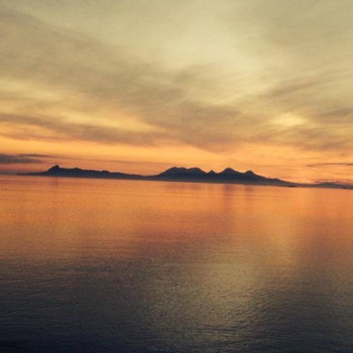 Sunset looking towards Skye from Roshven, Scotland