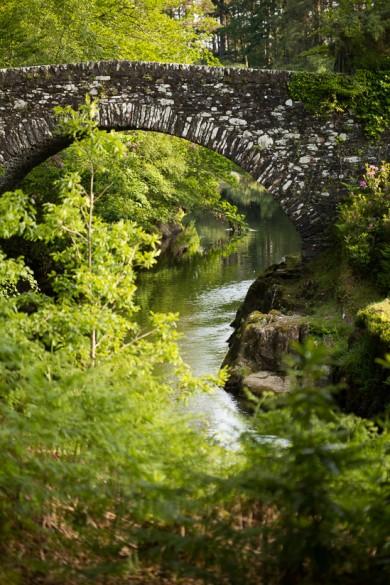 The charming bridge to Castle Tioram, Scotland